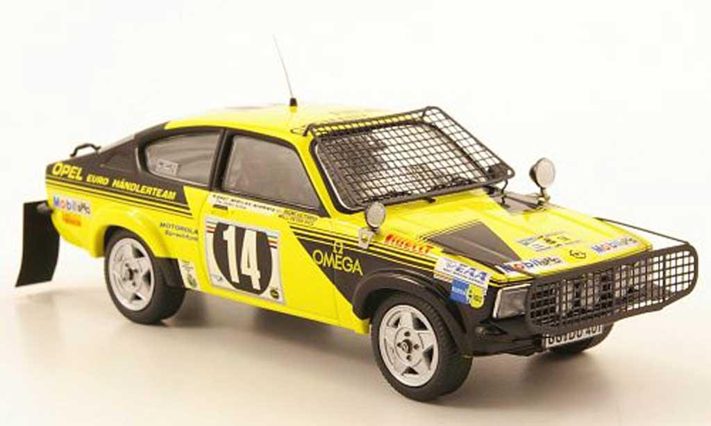 Opel Kadett C 1/43 Schuco Coupe No.14 Safari Rallye 1976 miniature