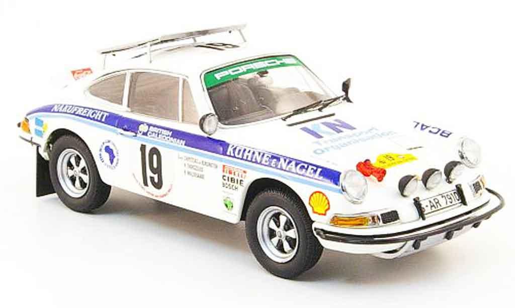 Porsche 930 RS 1/43 Schuco No.19 Kuhne & Nagel Safari Rallye 1974 miniature