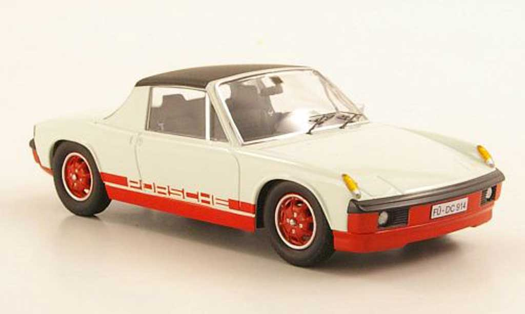 Porsche 914 1/43 Schuco elfenbein/red diecast model cars