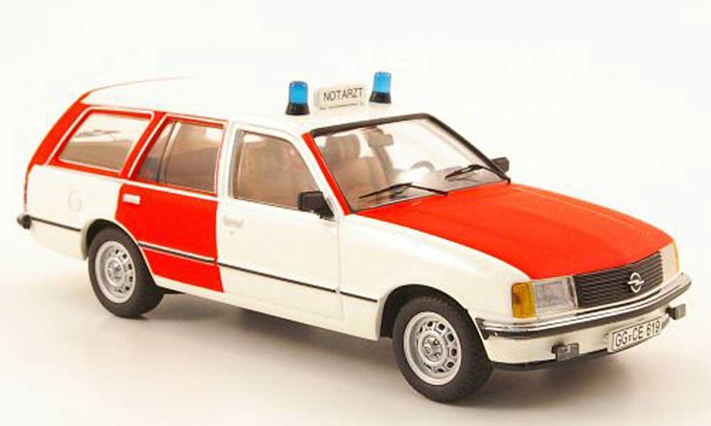 Opel Rekord 1/43 Schuco E Caravan Notarzt miniature