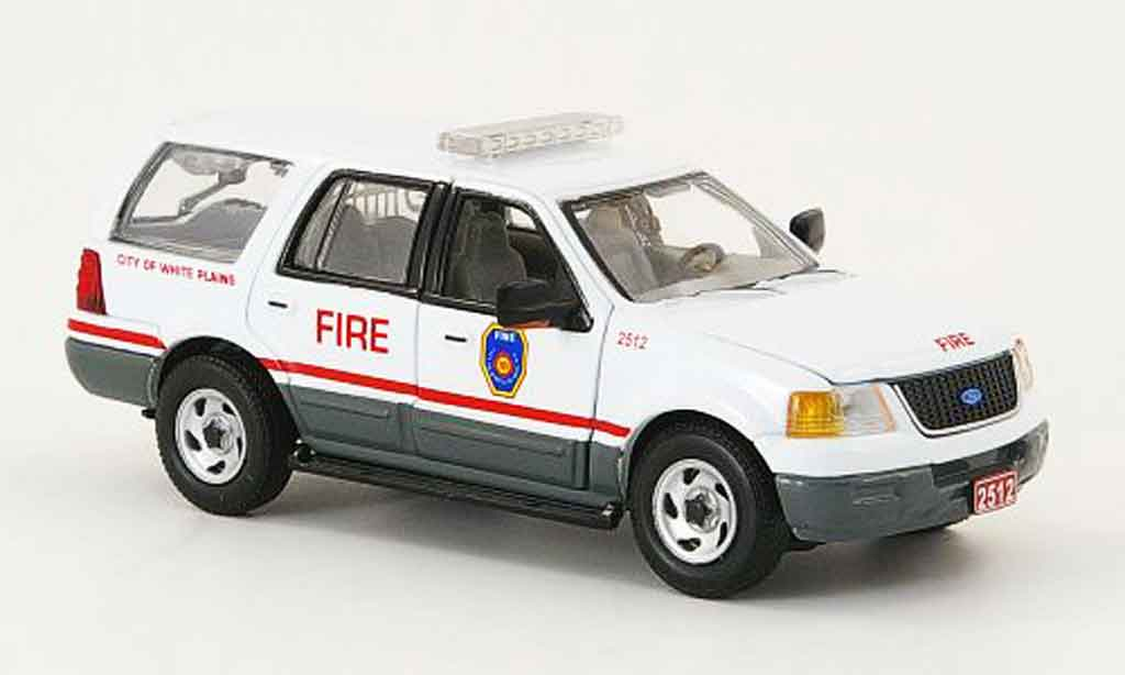 Ford Expedition 1/43 Gearbox White Plains Fire Dept. pompier miniature