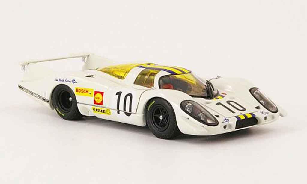 Porsche 917 1969 1/43 Ebbro No.10 blanche bleu jaune 24h Le Mans miniature