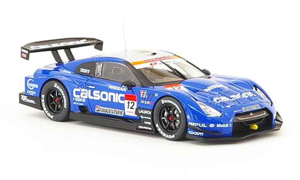 Nissan Skyline R35 1/43 Ebbro GT R No.12 Calsonic Super GT 2008 miniature