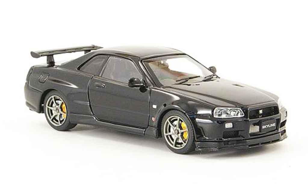 Nissan Skyline R34 1/43 Ebbro GT R V Spec II noire 2001 02 miniature