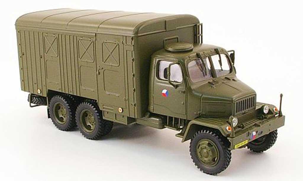 Praga V3S 1/43 Abrex Kasten olivgrun tschechische Armee miniature