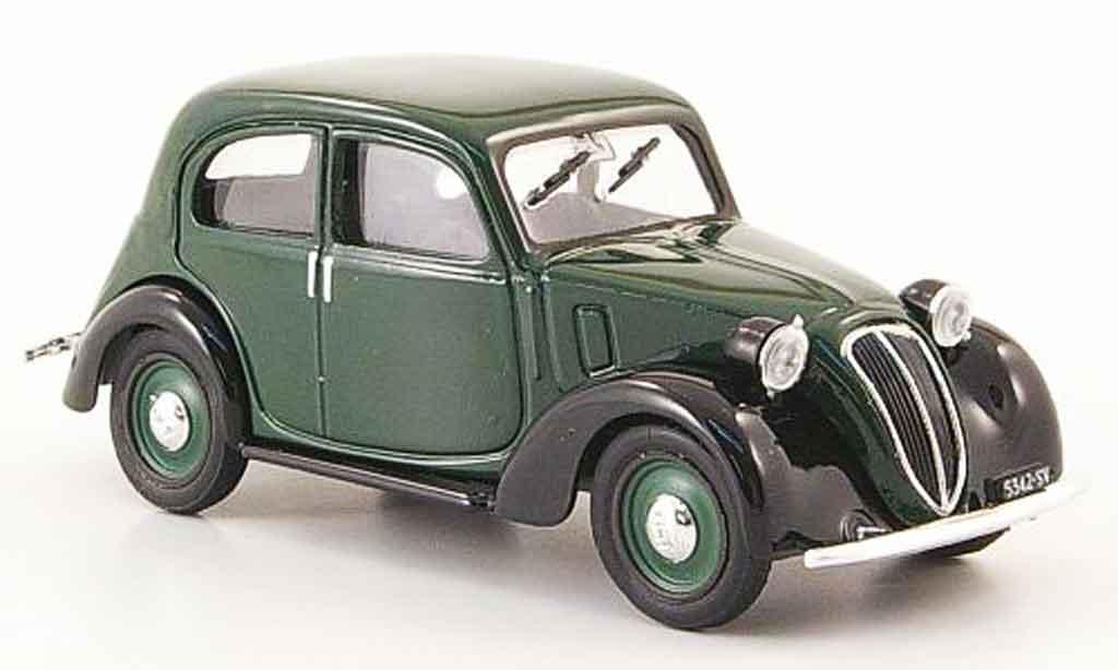 Fiat 1100 1937 1/43 Brumm (508 c.) Nuova Balilla grun noire miniature