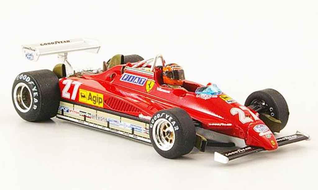 Ferrari 126 1982 1/43 Brumm C2 turbo no.27 g.villeneuve gp belgien miniatura