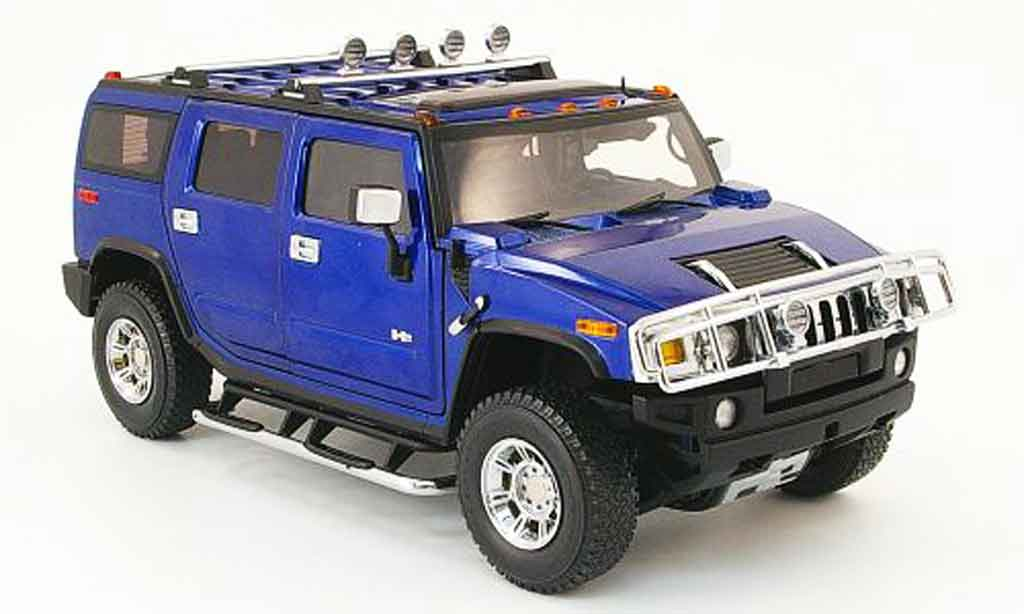 Hummer H2 1/18 Highway 61 bleu miniature