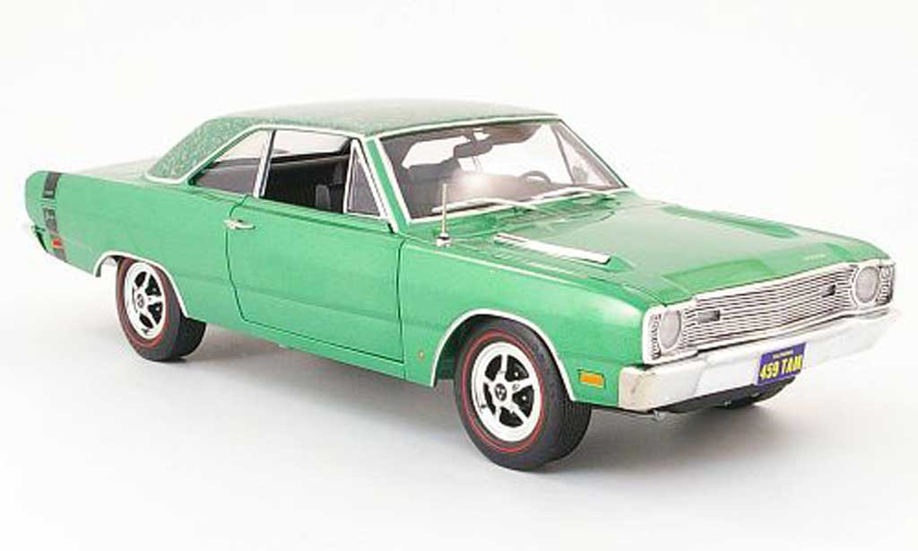 Dodge Dart 1969 1/18 Highway 61 swinger grun blumenmuster mod-top diecast model cars