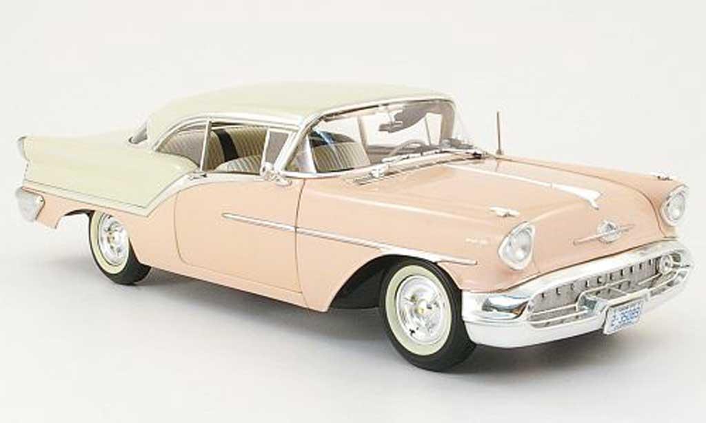 Oldsmobile Super 88 1/18 Highway 61 pink/beige 1957 miniature