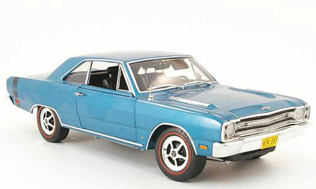 Dodge Dart 1968 1/18 Highway 61 gts bleu diecast model cars