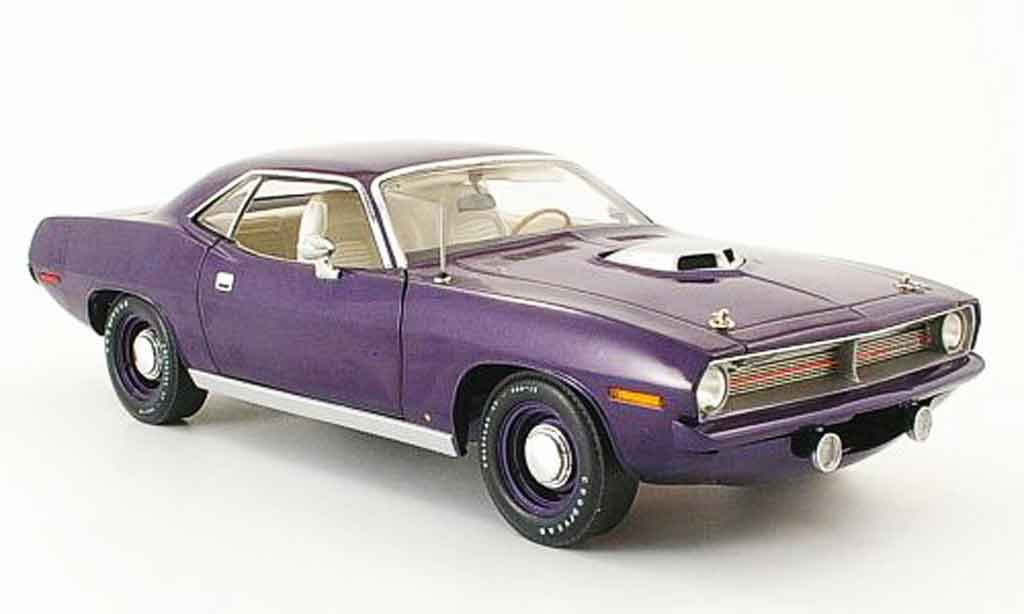 Plymouth Cuda 1970 1/18 Fairfield Mint hemi flieder miniature