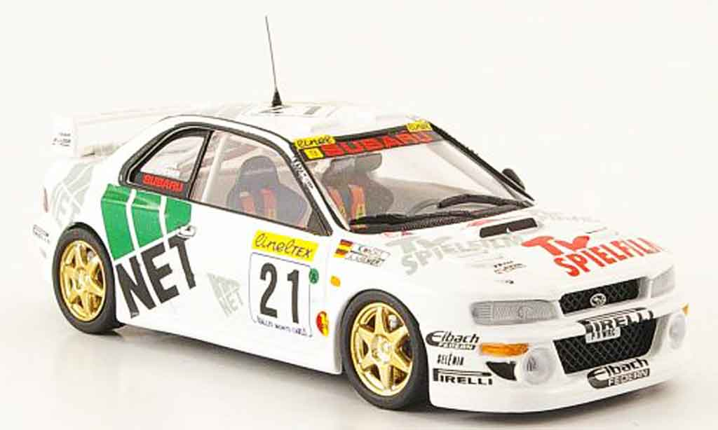 Subaru Impreza WRC 1/43 Trofeu no.21 deutscher champion 1998 modellino in miniatura