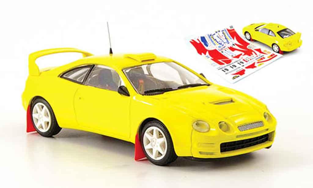 Toyota Celica 1/43 Mini Partes gt 4 jaune 1997 miniature