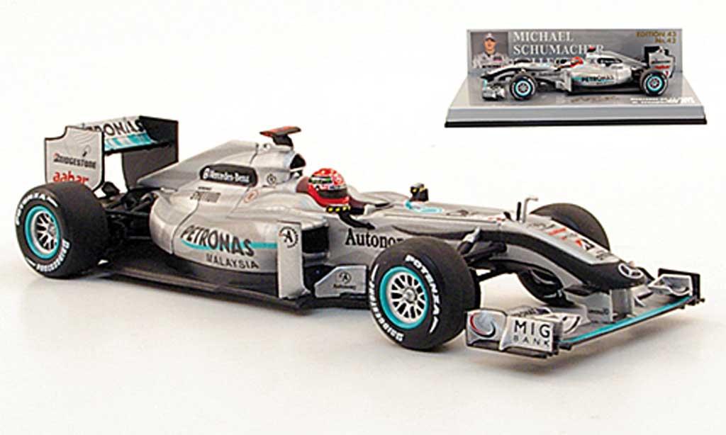 Mercedes F1 2010 1/43 Minichamps GP Petronas MGP W01 No.3 miniature