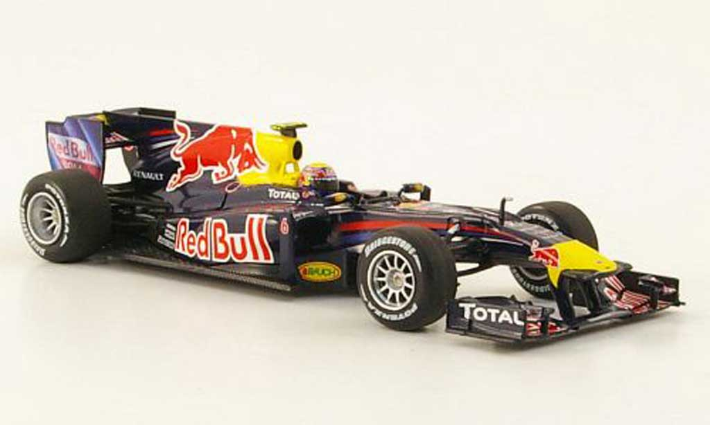 Renault F1 2010 1/43 Minichamps Red Bull RB6 No.6 M.Webber Saison miniature