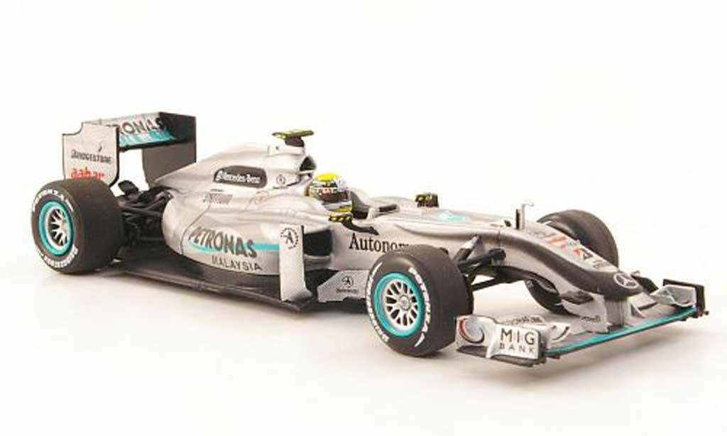 Mercedes F1 2010 1/43 Minichamps GP MGP W01 No.4 Petronas N.Rosberg GP Malaysia miniature