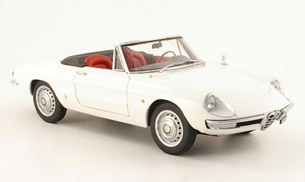 Alfa Romeo 1600 1/18 Autoart duetto spider blanche 1966 miniature