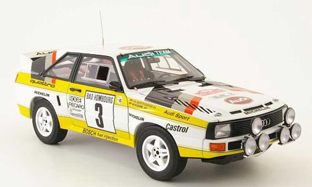 Audi Sport Quattro 1/18 Autoart no.3 rallye monte carlo 1985 miniature