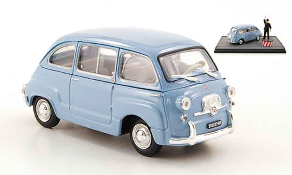 fiat 600 d multipla blau avec figuren 1960 brumm. Black Bedroom Furniture Sets. Home Design Ideas