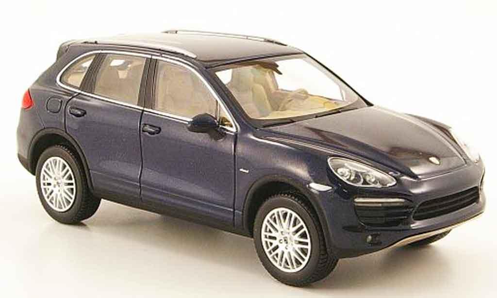 Porsche Cayenne 1/43 Minichamps Diesel bleu 2010 miniature