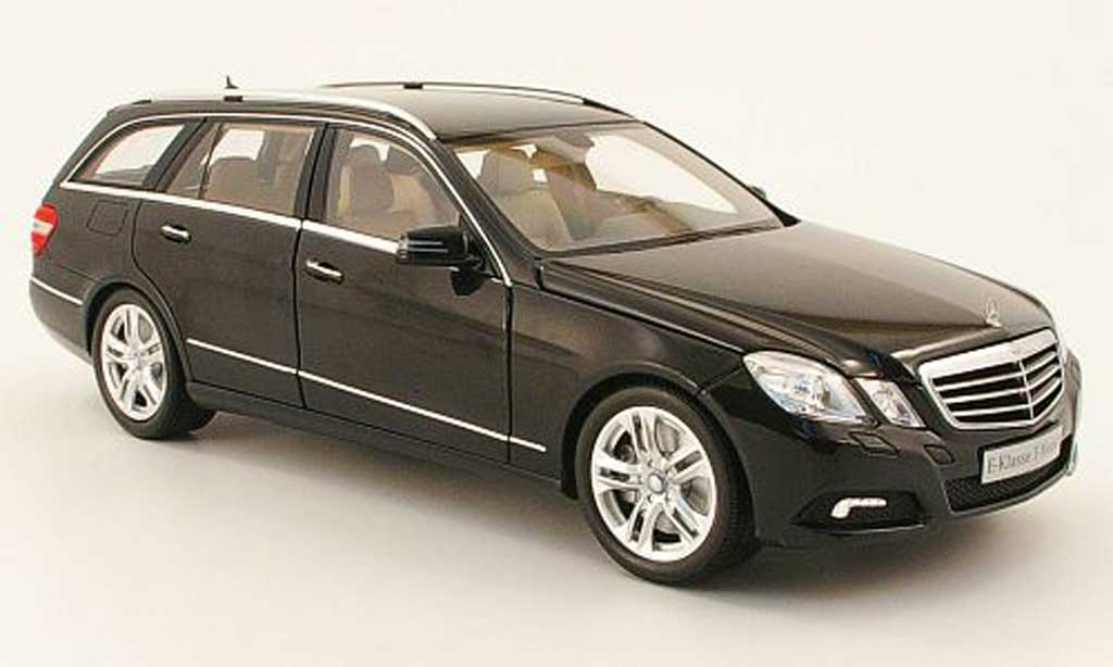 Mercedes Classe E 1/18 Minichamps break (s212) noire 2009 miniature