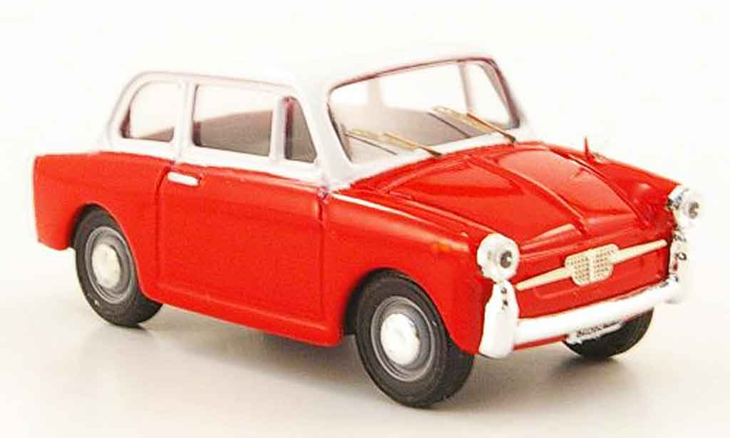 Autobianchi Bianchina 1/43 Progetto Berlina Special rouge blanche miniature