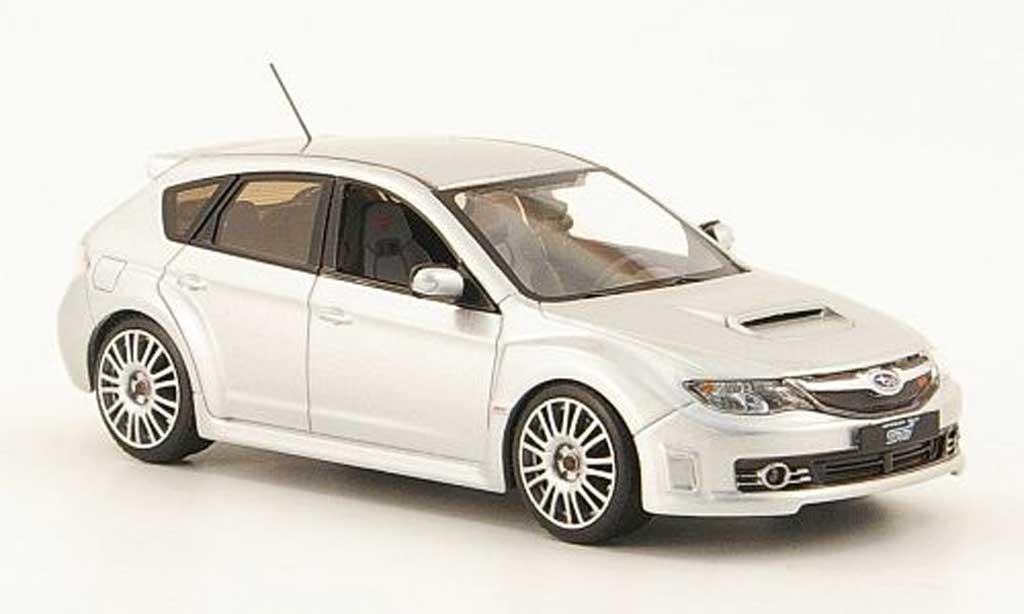 Subaru Impreza WRX 1/43 IXO STI grise 2008 miniature