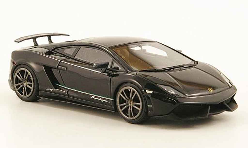 Lamborghini Gallardo LP570-4 1/43 Look Smart superleggera noire 2010 miniature