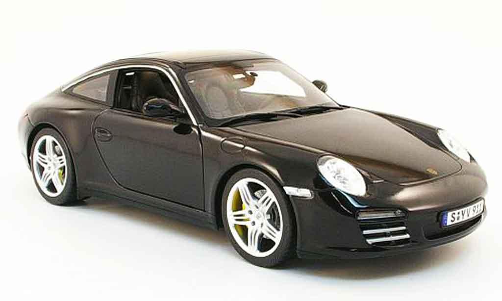 Porsche 997 Targa 1/18 Norev 4s noire 2009 miniature
