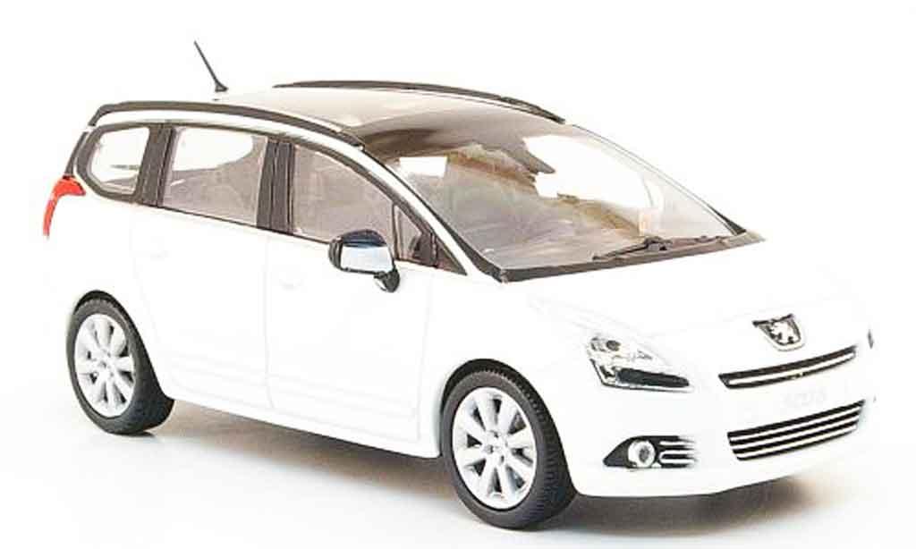 Peugeot 5008 1/43 Norev blanche 2009 miniature