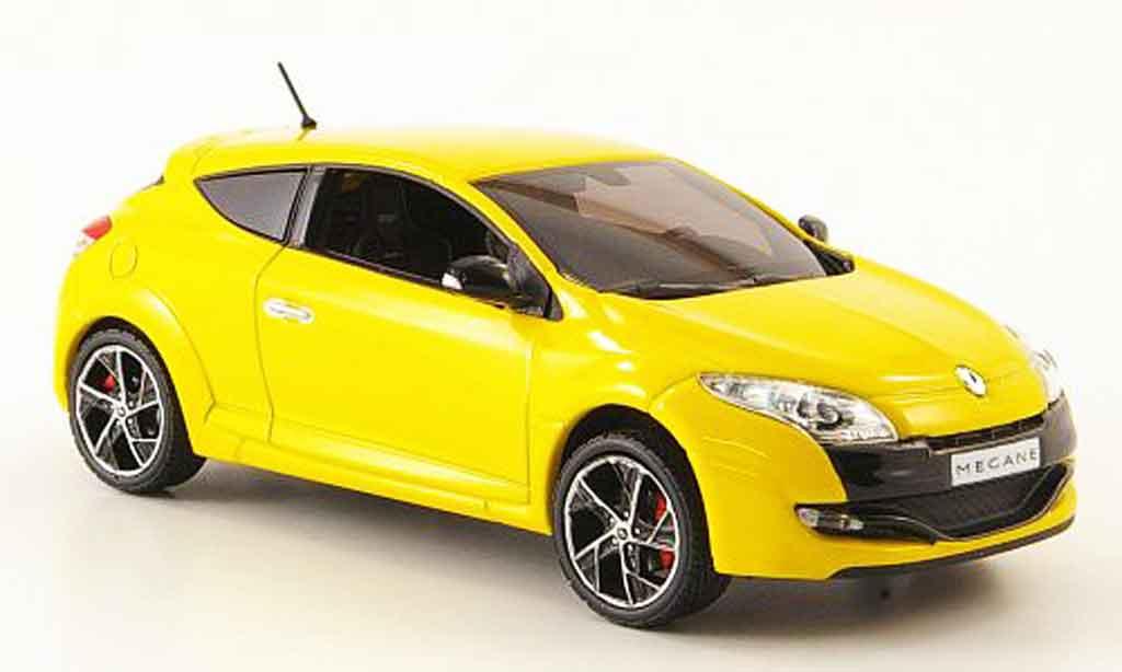 Renault Megane Sport 1/43 Norev jaune 2009 miniature