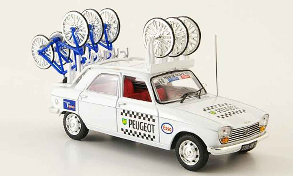 Peugeot 204 Berline 1/43 Norev bp michelin tour de france 1970 miniature