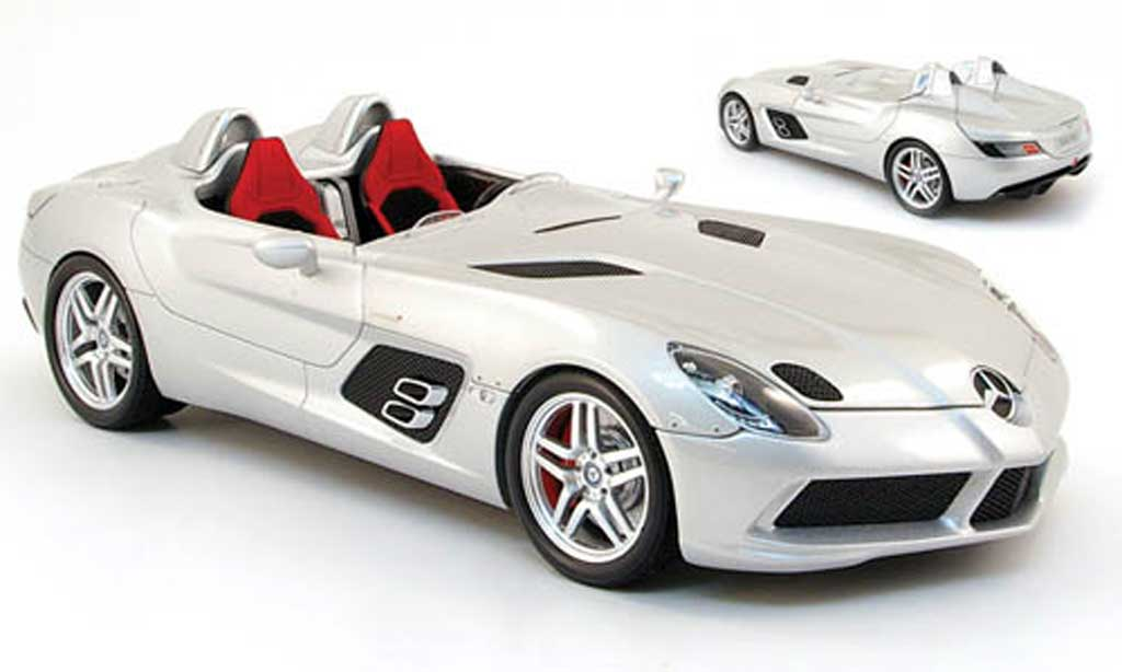Mercedes SLR 1/18 Minichamps mclaren stirling moss grise clair metallized miniature