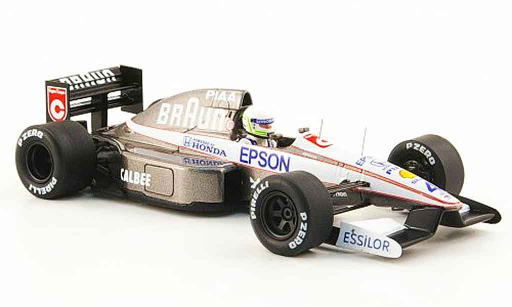 Tyrrell 020 1/43 Spark No.4 marron S.Modena GP Monaco 1991 miniature