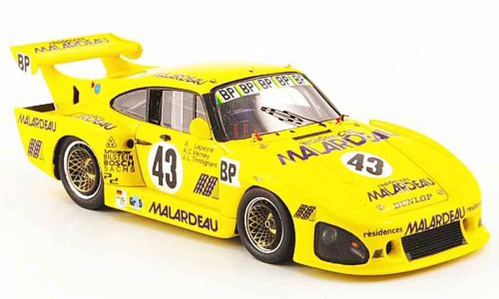 Porsche 935 1980 1/43 Spark K3 No.43 Malardeau 24h Le Mans diecast model cars