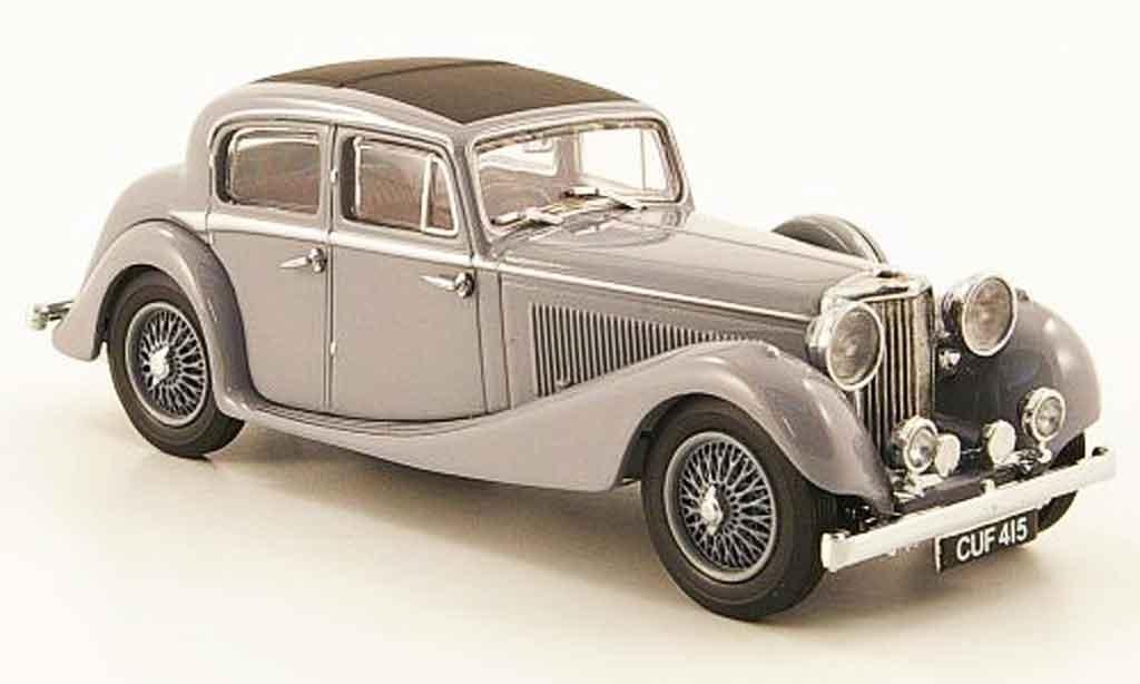 Jaguar SS 1/43 Oxford 2.5 saloon grise miniature