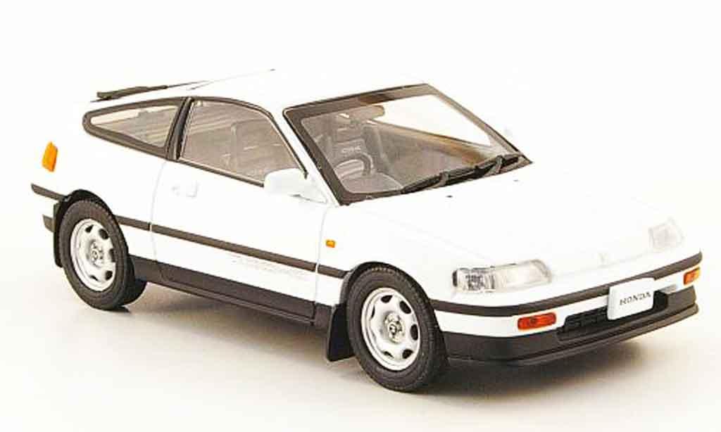 Honda CRX 1/43 Ebbro blanche 1987 miniature