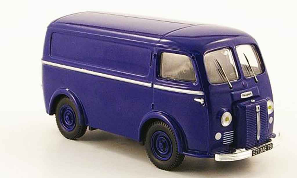 Peugeot D3A 1/43 Heritage kasten bleu miniature