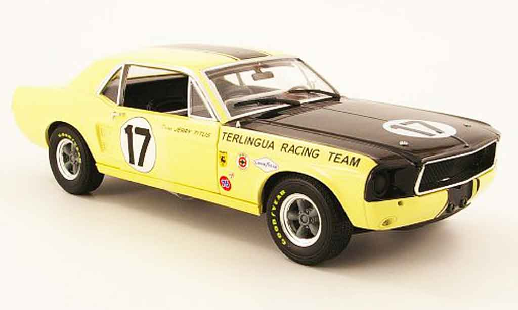 Shelby Mustang 1967 1/18 Greenlight 1967 terlingua no.17 j.titus miniature