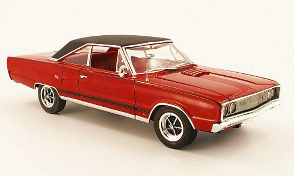 Dodge Coronet 1967 1/18 Highway 61 r/t 440 rouge/noire miniature