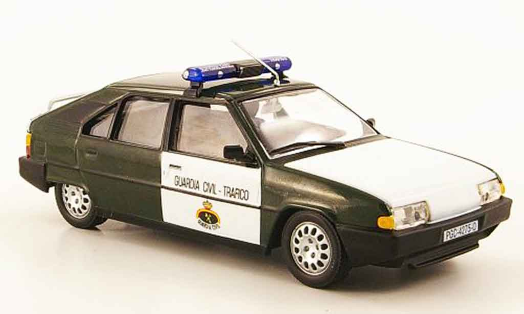 Citroen Bx Miniature 19 Guardia Civil Trafico Police 1988