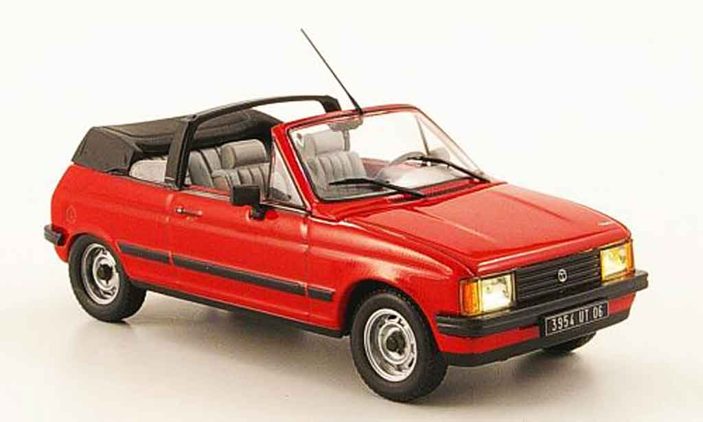 talbot samba cabriolet red 1983 mcw diecast model car 1 43 buy sell diecast car on alldiecast. Black Bedroom Furniture Sets. Home Design Ideas