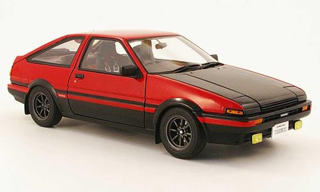 Toyota Trueno 1/18 Autoart sprinter (ae86) rouge/noire miniature