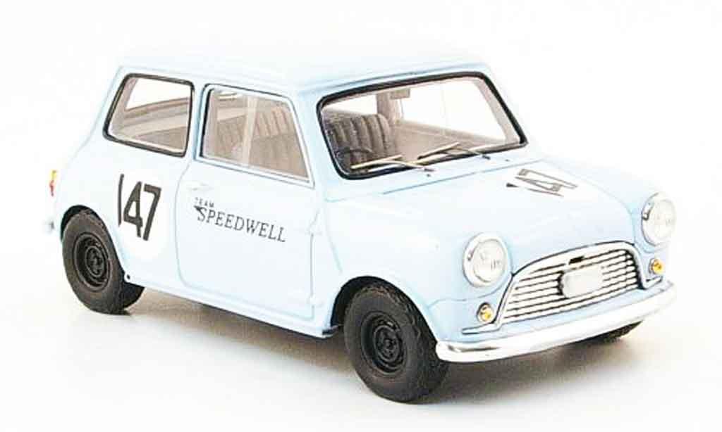 Austin Mini Rallye 1/43 Spark Saloon Car No.147 Team Speedwell 1960 miniature