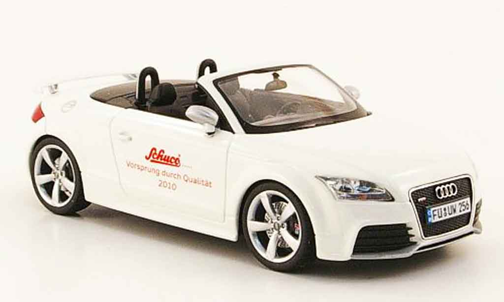audi tt rs miniature roadster blanche schuco 1 43 voiture. Black Bedroom Furniture Sets. Home Design Ideas