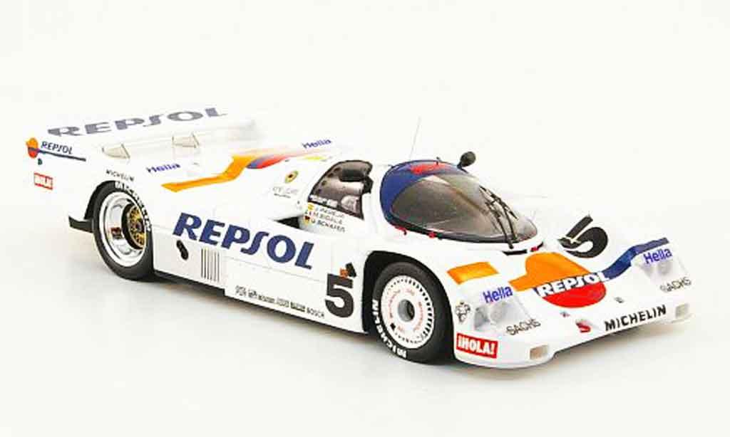 Porsche 962 1988 1/43 Spark No.5 Repsol 7ter Platz 24h Le Mans diecast model cars