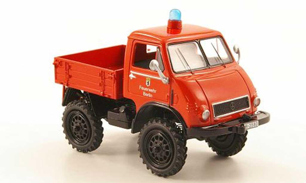 Mercedes Unimog 1/43 Schuco 401 Pritsche pompier Berlin miniature