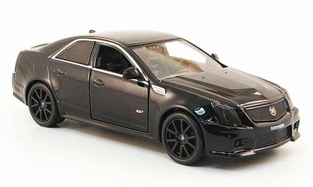 Cadillac CTS 1/43 Luxury Die Cast V noire Blackout Edition 2009 miniature