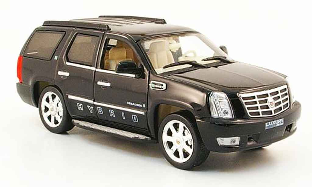 Cadillac Escalade 1/43 Luxury Die Cast Hybrid noire 2009 2010 miniature